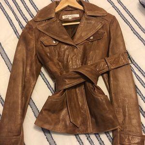 Kenneth Cole Leather Bomber Jacket